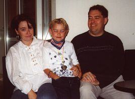 Uli , his wife Manuela and Lea in 2001