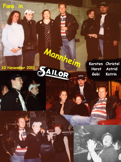 SAILOR fans in Mannheim