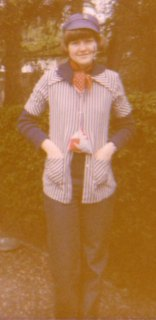 Karin in 1979 - going to a party in the school...