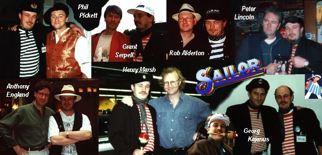 Cap K together with the SAILOR members 1973 - 2003